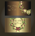 Set of beautiful postcards for christmas vector image vector image