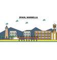 spain marbella city skyline architecture vector image vector image