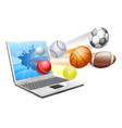 sports laptop app concept vector image vector image