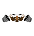 strong angry boar warthog wild boar and barbell vector image vector image