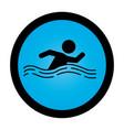 swiming athlete silhouette icon vector image