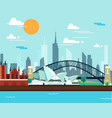 sydney opera house and bridge for traveling vector image vector image