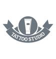 tattoo studio logo simple gray style vector image