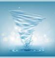 tornado water rotating twister vector image vector image