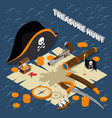 treasure hunt isometric composition vector image vector image