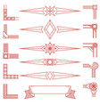 vintage geometric shapes and corners isolated on vector image vector image
