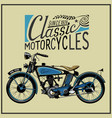 vintage motorcycle in color eps old vector image vector image