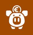 white piggy bank vector image