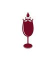 Wineglass Logo vector image