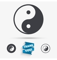 Ying yang sign icon Harmony and balance symbol vector image
