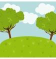 landscape background design vector image