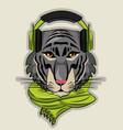 cool wild animal cartoon vector image