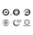 wheel car icon set template logo vector image