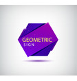 abstract 3d origami crystal logo icon vector image vector image