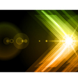Abstract 3d technology lines with light background vector image vector image