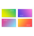 abstract bright colorful trendy banners set vector image