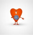 Angry heart is target vector image vector image