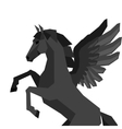 Background with horse pegasus in flat style vector image vector image