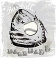 Baseball glove vector image vector image