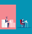 business man with easy and stressful work concept vector image