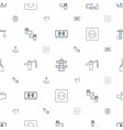 cable icons pattern seamless white background vector image vector image