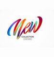 calligraphy new collection colorful modern flow vector image