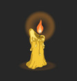 cartoon candle memorial day symbol vector image vector image