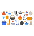 cartoon utensil hand drawn cookery and kitchen vector image vector image