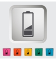 Charging the battery single icon vector image vector image