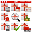 Christmas Delivery Set 6 vector image vector image