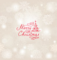 christmas holiday background with snow flakes vector image vector image
