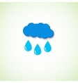 cloud and raindrops eps vector image vector image