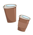 coffee cup paper coffee cup to go vector image