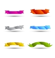 Colored Ribbons set vector image vector image