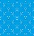 crutches pattern seamless blue vector image vector image