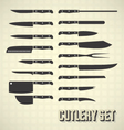 Cutlery Set and Kitchen Knives vector image vector image