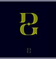 d g monogram logo combined letters emblem vector image vector image
