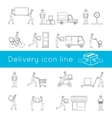 Delivery icons outline set vector image