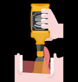 drink bottle alcohol open mouth and whiskey vector image vector image