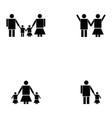 family icon set vector image