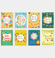 festa junina set greeting card invitation poster vector image