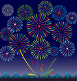 Fireworks Display for New year and all celebration vector image vector image
