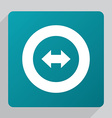 flat 2 side arrow icon vector image
