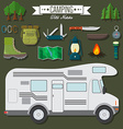 flat design modern travel and vacation set vector image