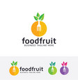 food fruit logo design vector image vector image
