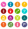 hairdressing icons many colors set vector image vector image