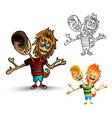 Halloween monsters spooky zombies isolated set vector image
