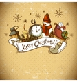 Hand-drawn Christmas Invitation Card vector image vector image