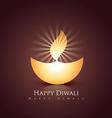happy diwali diya vector image vector image