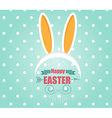 Happy Easter Card with Easter Bunny Rabbit vector image vector image